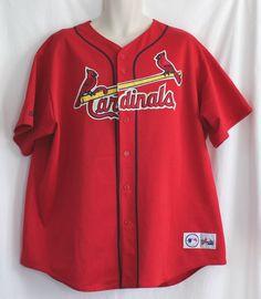 Vintage Cardinals Jersey Mark McGwire #25 Sz 2XL Baseball St Louis Stitched Red  #Majestic #StLouisCardinals