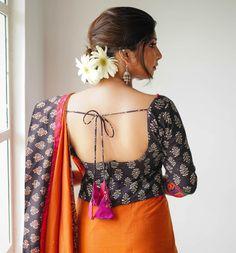 Interview : Charu Roopa on 'Colors & Mirrors' Blouse Back Neck Designs, Silk Saree Blouse Designs, Blouse Patterns, Simple Sarees, Fancy Sarees, Clothes For Women, Kalamkari Blouses, Indian Blouse, Designer Kurtis
