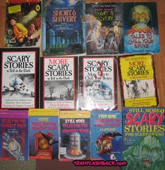 i remember reading 'scary stories to tell in the dark' when i was young!