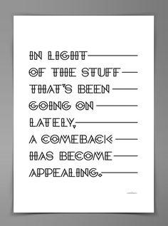 Comeback Identity by The Comeback , via Behance
