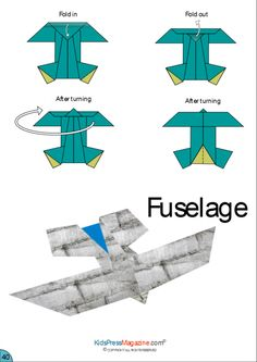 Paper Airplane Instructions – Fuselage  #summer #activities #build #brain #power #folding #airplanes