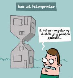 3D printing wordt toegepast in de bouw. Beeld: http://www.nozzman.nl/