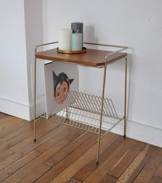 Table porte vinyles  #vintage #vintagestyle #vintagefashion #music #vinyl #homedecor #home #love #beauty Magazine Rack, Audio, Cabinet, Vintage, Storage, Furniture, Beauty, Home Decor, Gates