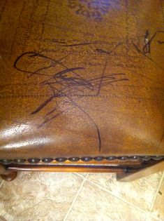 How To Remove Pen Ink From Leather Use Hand Sanitizer