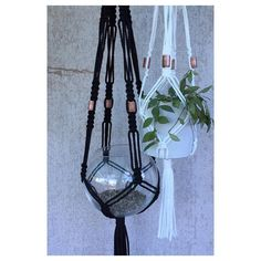 Copper Macramé Plant Hanger by SunshineDreamingLove on Etsy