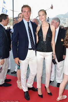 The Borromeo family have close ties with a lot of fashion houses andBeatrice, pictured at the Monaco Yacht Club, often dons lavish designs on the red carpet