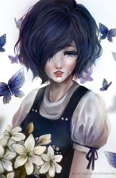 Finished painting our princess, Touka~ - Tokyo Ghoul belongs to Sui Ishida - Art by Byakurin Touka fanart last year: