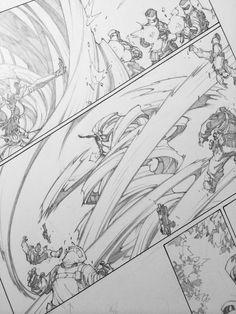 Hair tornado detail stage! #marvel #inhuman #comics #drawing #medusa - Joe Madureira