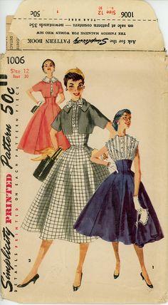 1950s Dress Pattern Bust 30 Unuct Simplicity 1006 от CynicalGirl
