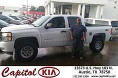 https://flic.kr/p/GiPwd1 | Congratulations Jason on your #Chevrolet #Silverado 1500 from Marcus Benitez at Capitol Kia! | deliverymaxx.com/DealerReviews.aspx?DealerCode=RXQC