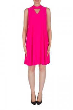 Joseph Ribkoff Neon Pink Dress Neon Pink Dresses, Joseph Ribkoff Dresses, Dresses For Work, Summer Dresses, Classic Style, What To Wear, Clothes, Fashion, Outfits