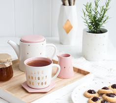 Our new Homewares Collection features a fresh colour palette of white, soft pink and gold to add a little shine to your home or workspace.
