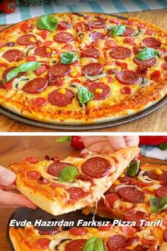 Homemade Pizza Recipe From Home Ready – … – Pizza Ideas Pizza Recipes, My Recipes, Curry Pizza, Turkish Pizza, Slow Cooker Pasta, Pizza Kitchen, Healthy Pizza, Best Dishes, Recipe Collection