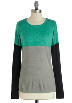 Hops to It Sweater, #ModCloth love the color blocking