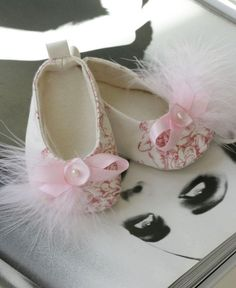 Baby Shoes Baby Girl Shoes Couture Ballet by revolutionarysoul