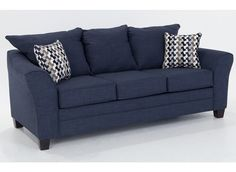 Adrina Denim Sofa | Outlet | One-Shot Deals | Bob's Discount Furniture