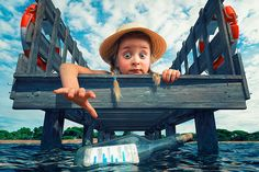 John Wilhelm is a Photoholic loves bringing his fantasy to life with the help of his own images, Photoshop and Software. Due to the fact that it's more an obsession than plain passion he calls himself a photoholic. Adorable Petite Fille, Cool Photos, My Photos, Message In A Bottle, Funny Pictures, Funny Pics, Images, Fantasy, Awesome