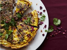 SouthBeach friendly!! A classic Persian herb-loaded egg dish with the fragrant lift of rose petals.
