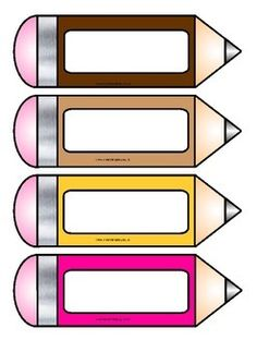 Free Printable Pencil Board Accents by Instant Display Teaching Resources Classroom Labels Free, School Coloring Pages, School Frame, Powerpoint Background Design, School Labels, School Clipart, Kindergarten Math Worksheets, School Posters, Instant Display