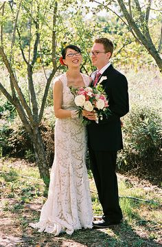 Brides in glasses | Offbeat Bride