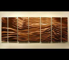 Brown Wave II - Contemporary Metal Wall Art Sculpture by Jon Allen: Contemporary Metal Art Sculptures by Jon Allen