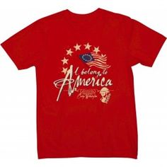 This T-shirt is the perfect gift for any American history buff. This bright, candy red T-shirt is printed with a classic American flag, patr...