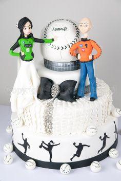 Wedding Cake for sports handball couple / Tort weselny dla sportowców piłka ręczna - Cake by Edyta rogwojskiego.pl