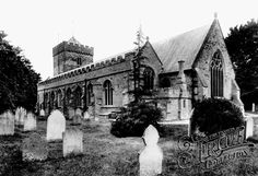Old photo of Church of St Martin And St Mary 1907, Chudleigh