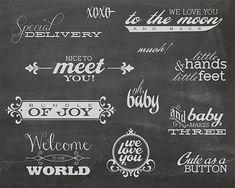 12 Word Overlays - Baby Newborn Phrases Photo Overlay - Text Photo Overlay - Quote Baby Newborn Photo Words Phrase NSTANT DOWNLOAD