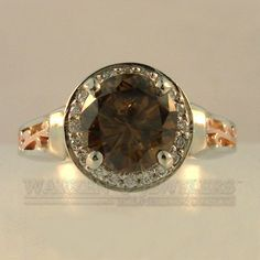 Ooh, a big chocolate diamond in a rose and white gold setting