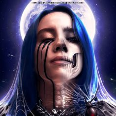 "Billie Eilish ""Moonlight"" 🕷 Art by Me 👑 King Jediah Billie Eilish, Fan Art, Colby Brock, Demon Art, Trippie Redd, Digital Art Girl, Gaara, My King, Moonlight"