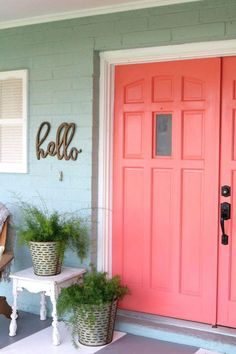 Image result for homes painted coral