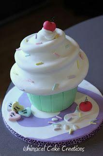 WhimsicalCreations.ca: Giant Cupcake Cake