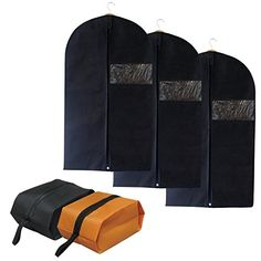 7Felicity Set of 3 Breathable Garment Bags for Travel Clothes Organizer storage with Clear Window including Two Shoe BagsH01 *** Read more reviews of the product by visiting the link on the image.