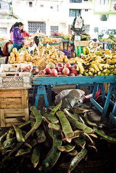 Fruit market in Quito, Ecuador.