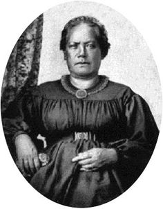 Princess Laura Kanaholo Kōnia(c. 1808–1857). She was the mother ofPrincess Bernice Pauahi Bishop of Hawai'i (December 19, 1831 – October 16, 1884), bornBernice Pauahi Pākī, and the granddaughter of King Kamehameha I. Photograph taken in circa 1850.