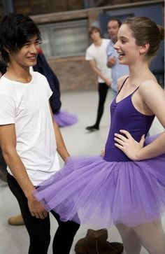 """Jordan Rodrigues and Xenia Goodwin portray the characters of Christian and Tara respectively in the tv show """"Dance Academy""""......."""