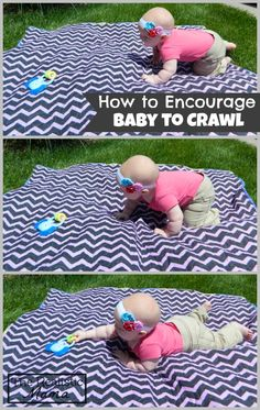 Encouraging Baby to Crawl. Love how simple this activity is. #knoala