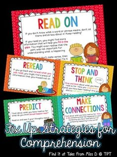 A pack of 7 posters for Fix Up strategies to use when meaning is disrupted. Both British and American spelling is catered for, just print the version you need :)