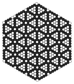 Flower Of Life Perler Bead Pattern / Bead Sprite Perler Beads, Hama Beads Coasters, Perler Bead Art, Fuse Beads, Pony Bead Patterns, Kandi Patterns, Perler Patterns, Beading Patterns, Hexagon Quilt