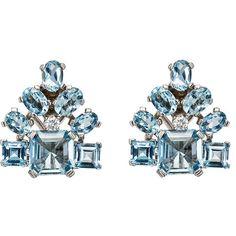 Stephanie Windsor Antiques Women's Art Deco Cluster Clip-On Earrings (91.760 DKK) ❤ liked on Polyvore featuring jewelry, earrings, no color, antique art deco earrings, deco jewelry, antique clip on earrings, art deco jewelry and antique art deco jewelry