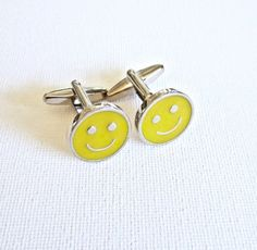 Happy Face Emoji Cufflinks