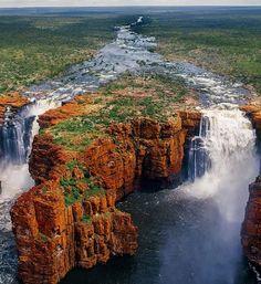 Estas son las cataratas King George Falls, en Kimberley, Australia
