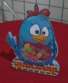 Baleiro em mdf com personagem da galinha pintadinha. Mínimo de 15 unidades. R$ 24,00