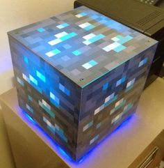 #Minecraft diamond block case for a computer running Minecraft servers which is awesome  minecraft geek!!     http://ultimatehardwarestore.com/