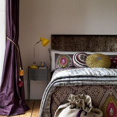 Gorgeous prints + wallpaper. I believe originally from Country Homes + Interiors magazine...