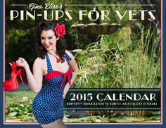 2015 Pin-Ups For Vets Calendar  #2015 #Pin #Ups #Vets #Calendar #Retro #Vintage #Classic #Cheesecake #Model #Swimwear #Lingerie #1940s #40s #1950s #50s