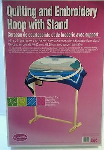 Wood Quilting Hoop with Stand 18