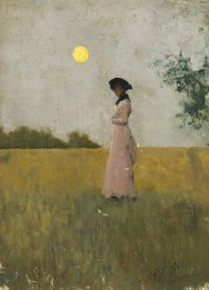 george clausen | portrait  I feel pulled into the landscape...and it is hard to  look away...so calm and still.