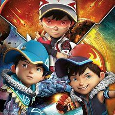 Galaxy Movie, Boboiboy Galaxy, Boboiboy Anime, Anime Art, Cartoon Movies, Cartoon Characters, Super Hiro, Violet Aesthetic, Elemental Powers